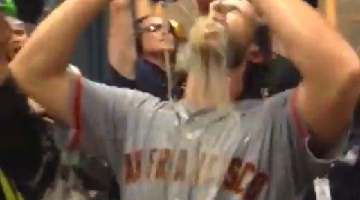 So feiern die San Francisco Giants den MLB Titel